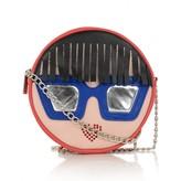 Simonetta SimonettaFace Applique Leather Shoulder Bag