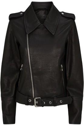 J Brand Maysen Belted Leather Jacket