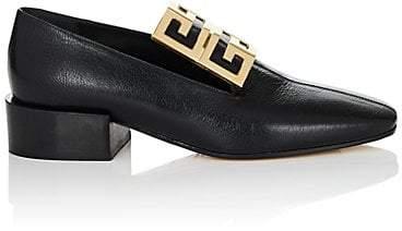 Givenchy Women's Logo-Embellished Leather Loafers - Black