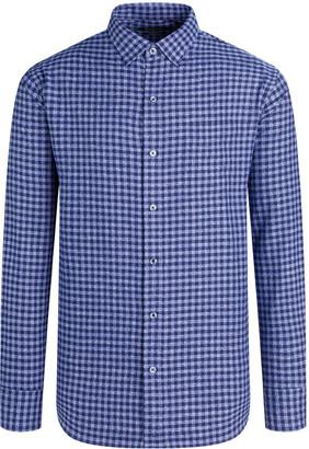 Bugatchi Men's Check Shaped-Fit Button-Down Shirt