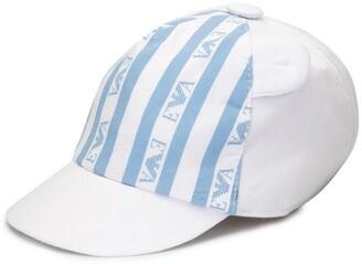 Emporio Armani Kids Striped Logo Cap