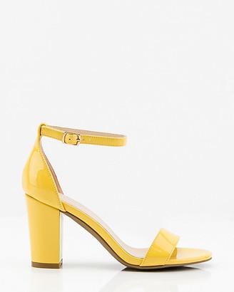 Le Château Patent Block Heel Sandal