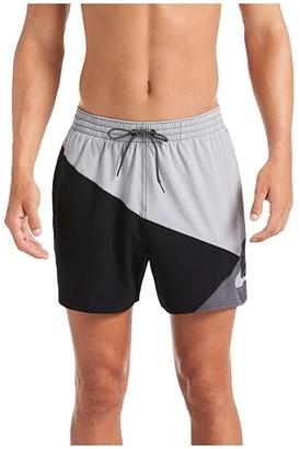 Nike 5 Logo Jackknife Volley Shorts (Light Smoke Grey) Men's Swimwear