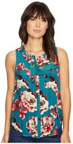 Lucky Brand Exploded Floral Pintuck Tank Top Women's Clothing