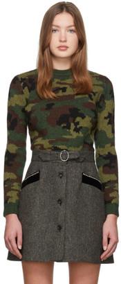 Miu Miu Multicolor Wool Jacquard Camo Sweater