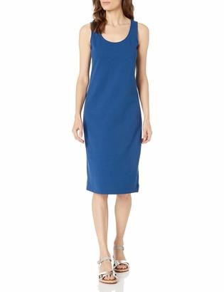 Joan Vass Women's Tank Stretch Pique Dress