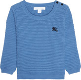 Burberry Mini Eddy waffle knitted jumper 6-36 months