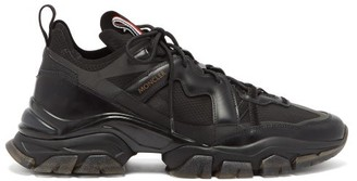 Moncler Timael Leather And Ripstop Trainers - Mens - Black