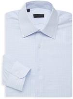 Ike Behar Checkered Long-Sleeve Dress Shirt