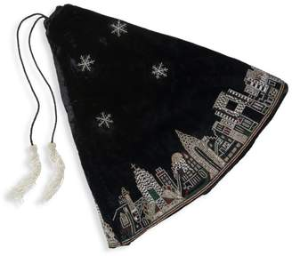 Sudha Pennathur NYC Skyline Beaded Christmas Tree Skirt