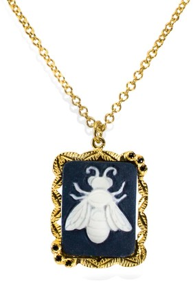 Vintouch Italy Bee Cameo Necklace