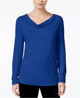 Bar III Cowl-Neck Top, Only at Macy's