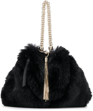 Jimmy Choo Callie faux fur bag