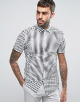 Reiss Premium Slim Shortsleeve Shirt In Print