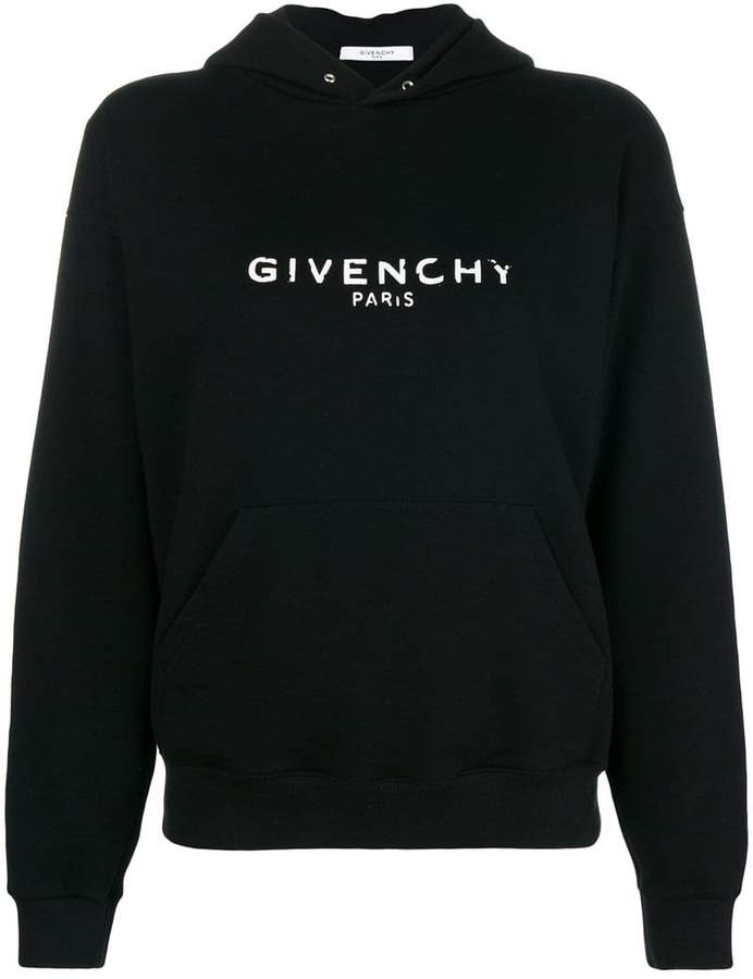 Givenchy logo patch hoodie
