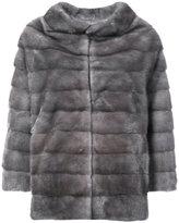 Oscar de la Renta reversible hooded coat