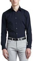 Theory Sylvain Eclipse Woven Sport Shirt, Navy