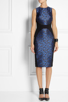 Michael Kors Camouflage-jacquard and stretch-crepe dress