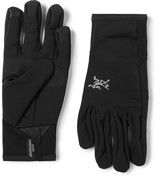 Arc'teryx Venta Leather-Trimmed Stretch-Jersey Gloves