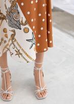 And other stories Polka Dot Seashell Satin Midi Skirt