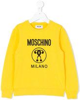 Moschino Kids - logo print sweatshirt - kids - Cotton/Spandex/Elastane - 4 yrs