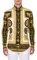 Versace Archive Frame Cotton Sport Shirt