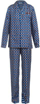 Prada Geometric Print Pyjamas
