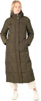 Spoom - Danna Long Quilted Army Puffer Down Coat - polyester | army | 34