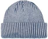 Topman Washed Blue Cotton Beanie