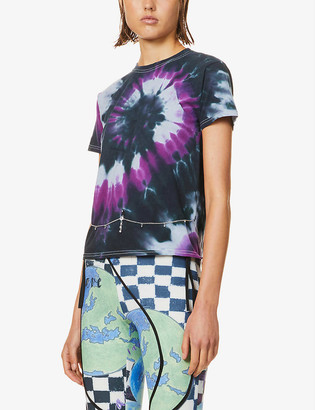 Collina Strada Chain-embellished tie-dye cotton-jersey T-shirt