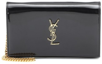 Saint Laurent Kate patent leather clutch