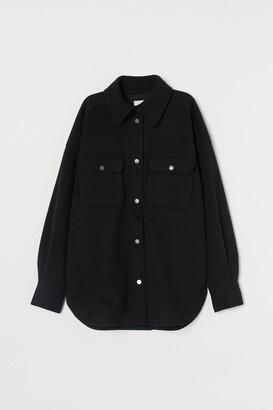 H&M Felted shirt jacket