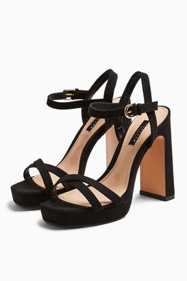 Topshop SIENNA Black Platform Heels