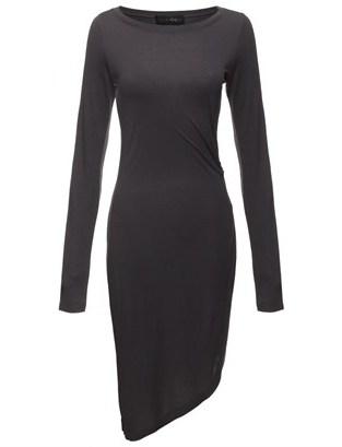 Thakoon Grey Gathered Side Dress