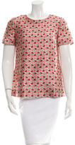 Tory Burch Patterned Short-Sleeve Top