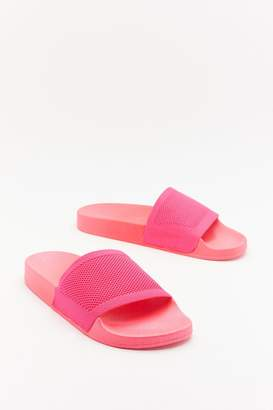 Nasty Gal Womens Welcome To The Dark Slide Sliders - Pink - 3