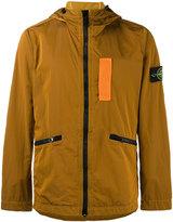 Stone Island Orange Nylon Metal Overshirt jacket