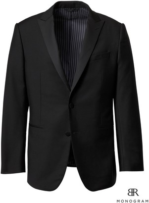 Banana Republic Standard Monogram Italian Tuxedo Jacket