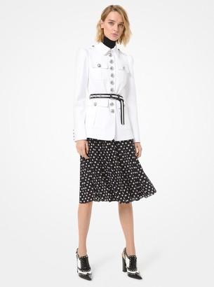 Michael Kors Cotton Twill Military Jacket