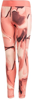 adidas Girls Ask A.R. AOP Tights- Coral