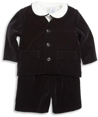 Florence Eiseman Baby Boy's 3-Piece Velvet Jacket, Shirt & Shorts Set