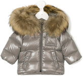 Moncler raccoon fur hooded jacket - kids - Feather Down/Polyamide/Racoon Fur - 3-6 mth