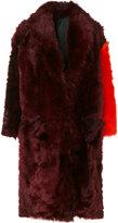 Calvin Klein contrast sleeve coat