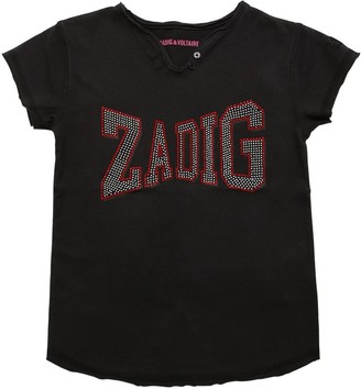 Zadig & Voltaire Embellished Cotton Jersey T-shirt