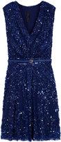 Elie Saab Sequin Section Dress