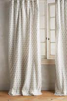 Anthropologie Embroidered Sari Silk Curtain