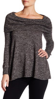 Max Studio Cowl Neck Marled Knit Sweater