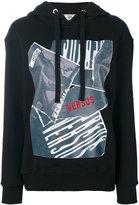 Versus printed hoodie - women - Cotton/Spandex/Elastane - XS