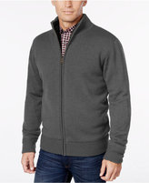 Weatherproof Vintage Men's Big and Tall Lined Zip-Front Cardigan, Classic Fit