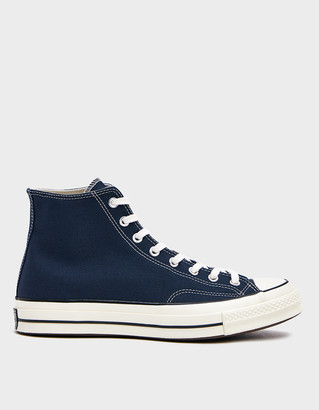 Converse Men's Chuck Taylor 70 Hi Sneaker in Navy, Size 8 | Textile/Rubber